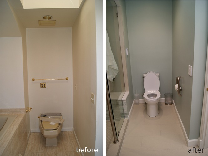 Condo MBath Toilet alcove